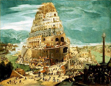 Wieża Babel na obrazie Abela Grimmera